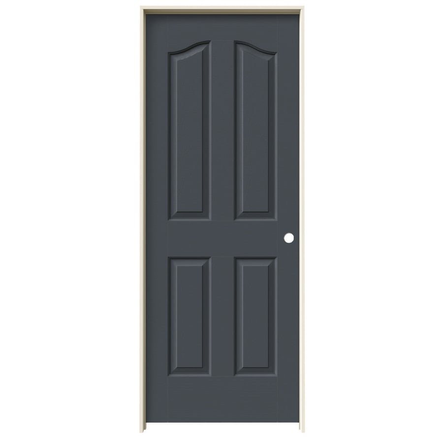 JELD-WEN Provincial Slate Solid Core Molded Composite Single Prehung Interior Door (Common: 28-in x 80-in; Actual: 29.562-in x 81.69-in)