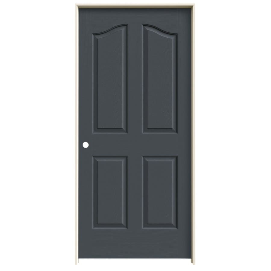 JELD-WEN Slate Prehung Solid Core 4-Panel Arch Top Interior Door (Common: 36-in x 80-in; Actual: 37.562-in x 81.69-in)