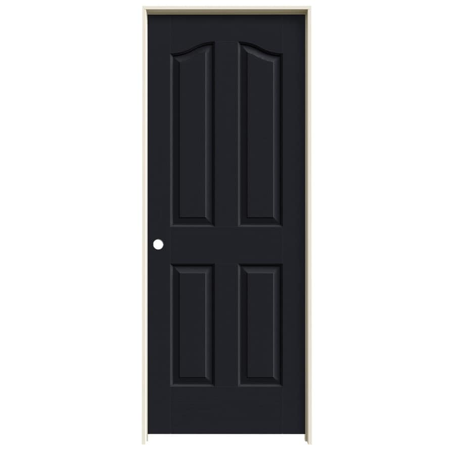 JELD-WEN Provincial Midnight Solid Core Molded Composite Single Prehung Interior Door (Common: 28-in x 80-in; Actual: 29.5620-in x 81.6900-in)