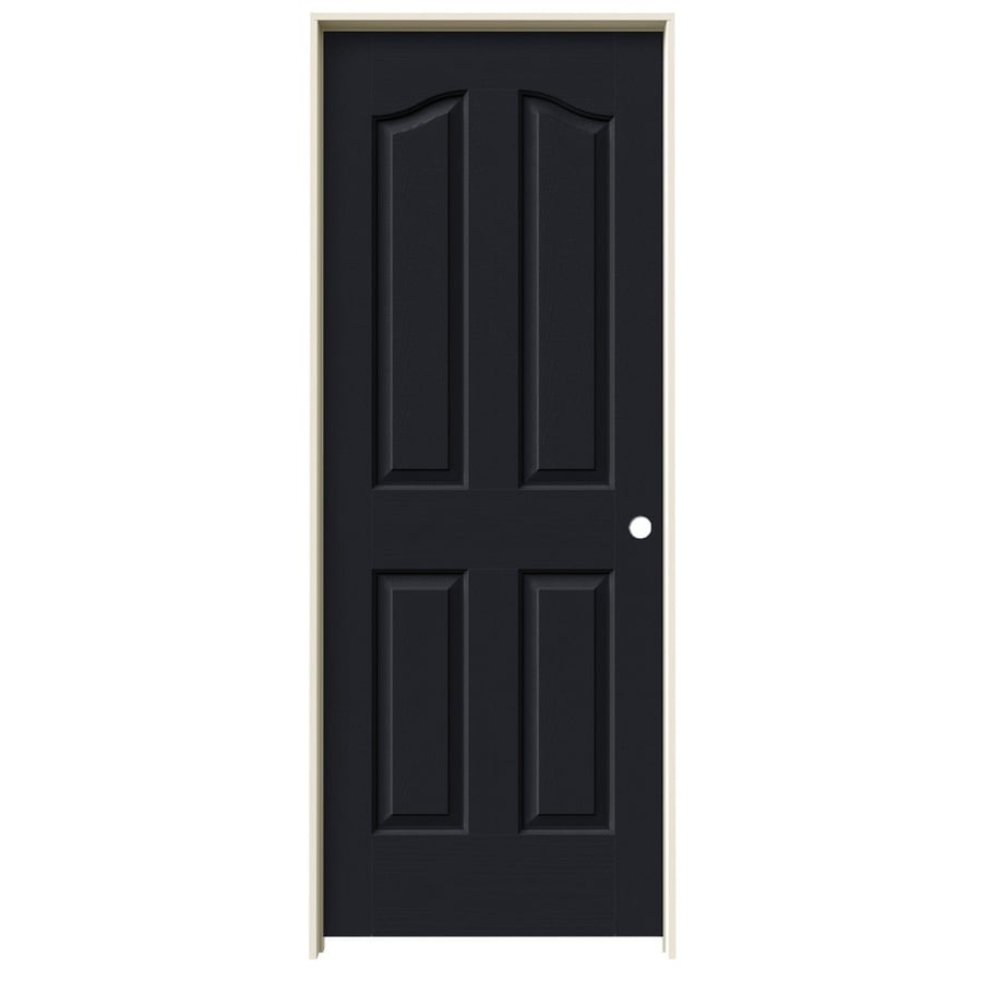 JELD-WEN Coventry Midnight 4-panel Arch Top Single Prehung Interior Door (Common: 28-in X 80-in; Actual: 29.562-in x 81.69-in)