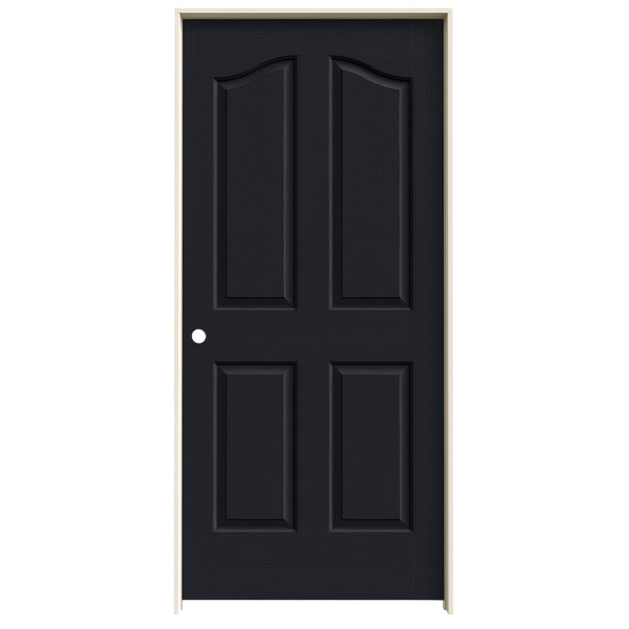 JELD-WEN Coventry Midnight 4-panel Arch Top Single Prehung Interior Door (Common: 36-in x 80-in; Actual: 37.562-in x 81.69-in)