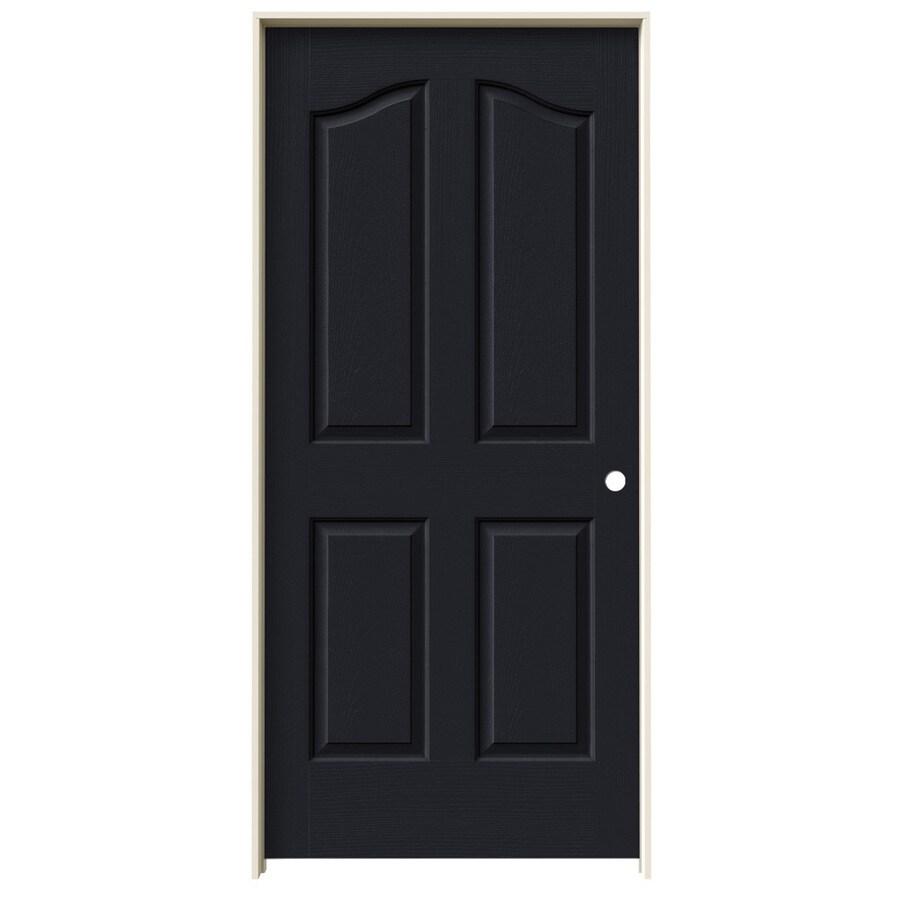 JELD-WEN Midnight Prehung Solid Core 4-Panel Arch Top Interior Door (Common: 36-in x 80-in; Actual: 37.562-in x 81.69-in)
