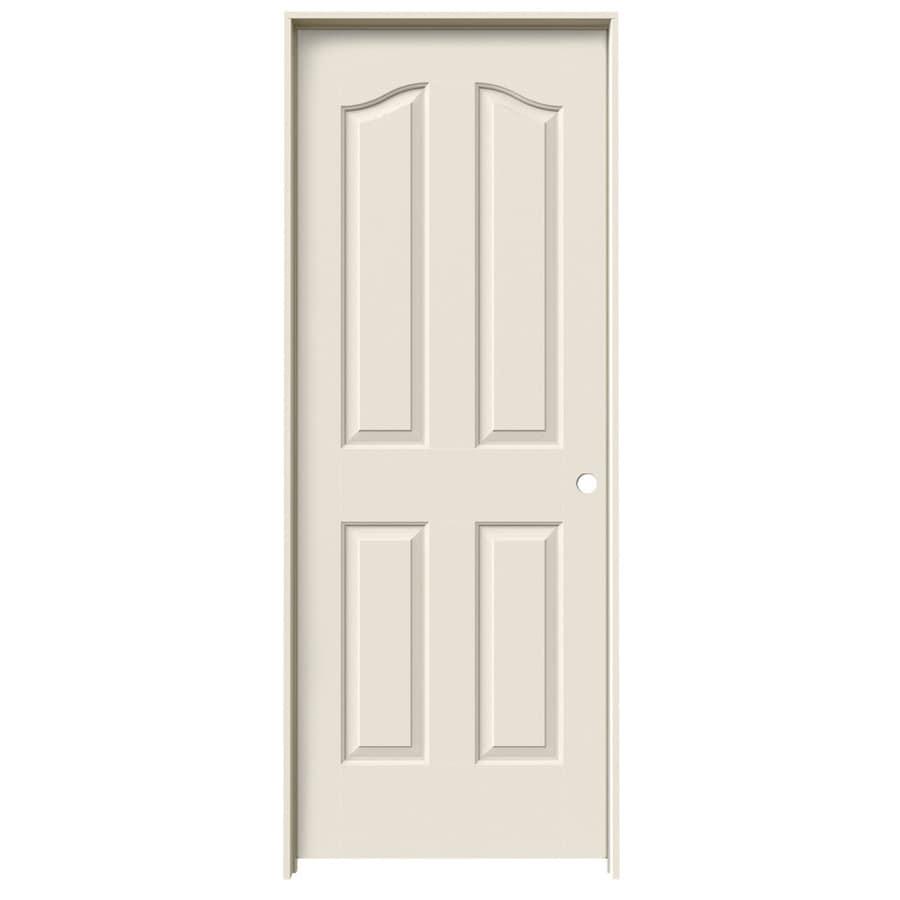 JELD-WEN Prehung Solid Core 4-Panel Arch Top Interior Door (Common: 24-in x 80-in; Actual: 25.562-in x 81.69-in)