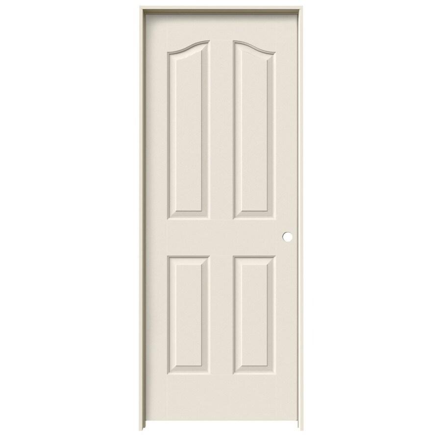 JELD-WEN Provincial Primed Solid Core Molded Composite Single Prehung Interior Door (Common: 32-in x 80-in; Actual: 33.562-in x 81.69-in)
