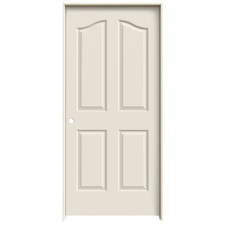 JELD-WEN Coventry 4-panel Arch Top Single Prehung Interior Door (Common: 36-in x 80-in; Actual: 37.562-in x 81.69-in)