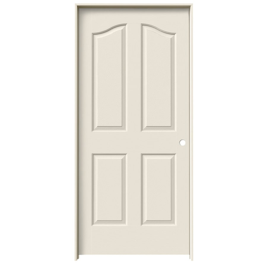 JELD-WEN Provincial Primed Solid Core Molded Composite Single Prehung Interior Door (Common: 36-in x 80-in; Actual: 37.562-in x 81.69-in)