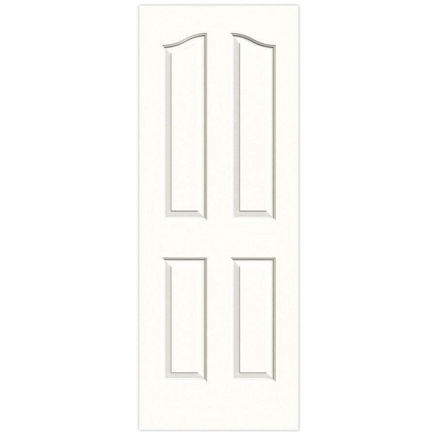 JELD-WEN Snow Storm Solid Core 4-Panel Arch Top Slab Interior Door (Common: 32-in x 80-in; Actual: 32-in x 80-in)