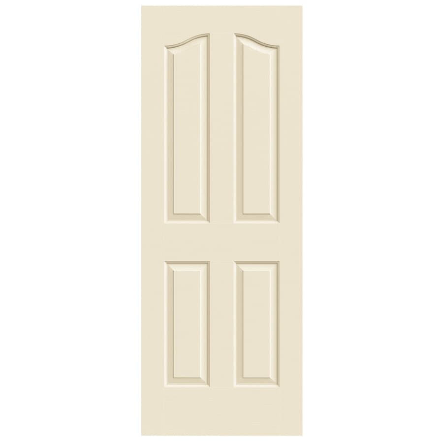 JELD-WEN Cream-N-Sugar Solid Core 4-Panel Arch Top Slab Interior Door (Common: 30-in x 80-in; Actual: 30-in x 80-in)