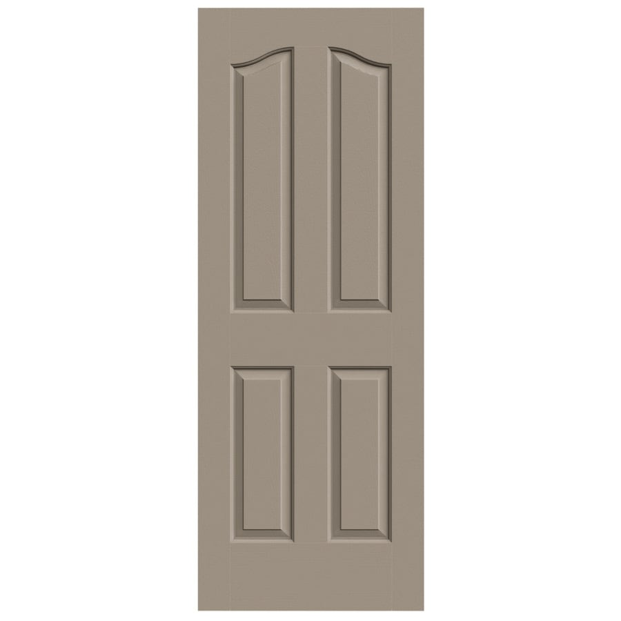 JELD-WEN Sand Piper Solid Core 4-Panel Arch Top Slab Interior Door (Common: 28-in x 80-in; Actual: 28-in x 80-in)