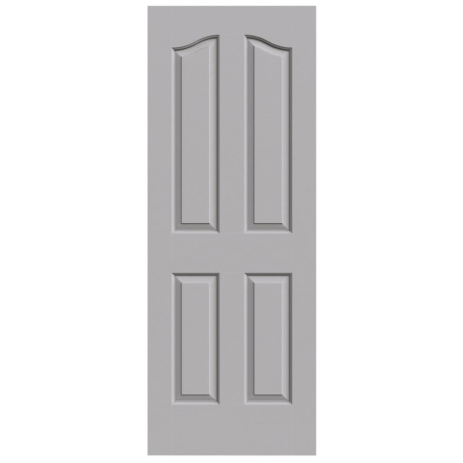 JELD-WEN Driftwood Solid Core 4-Panel Arch Top Slab Interior Door (Common: 24-in x 80-in; Actual: 24-in x 80-in)