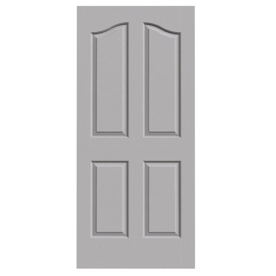 JELD-WEN Driftwood Solid Core 4-Panel Arch Top Slab Interior Door (Common: 36-in x 80-in; Actual: 36-in x 80-in)