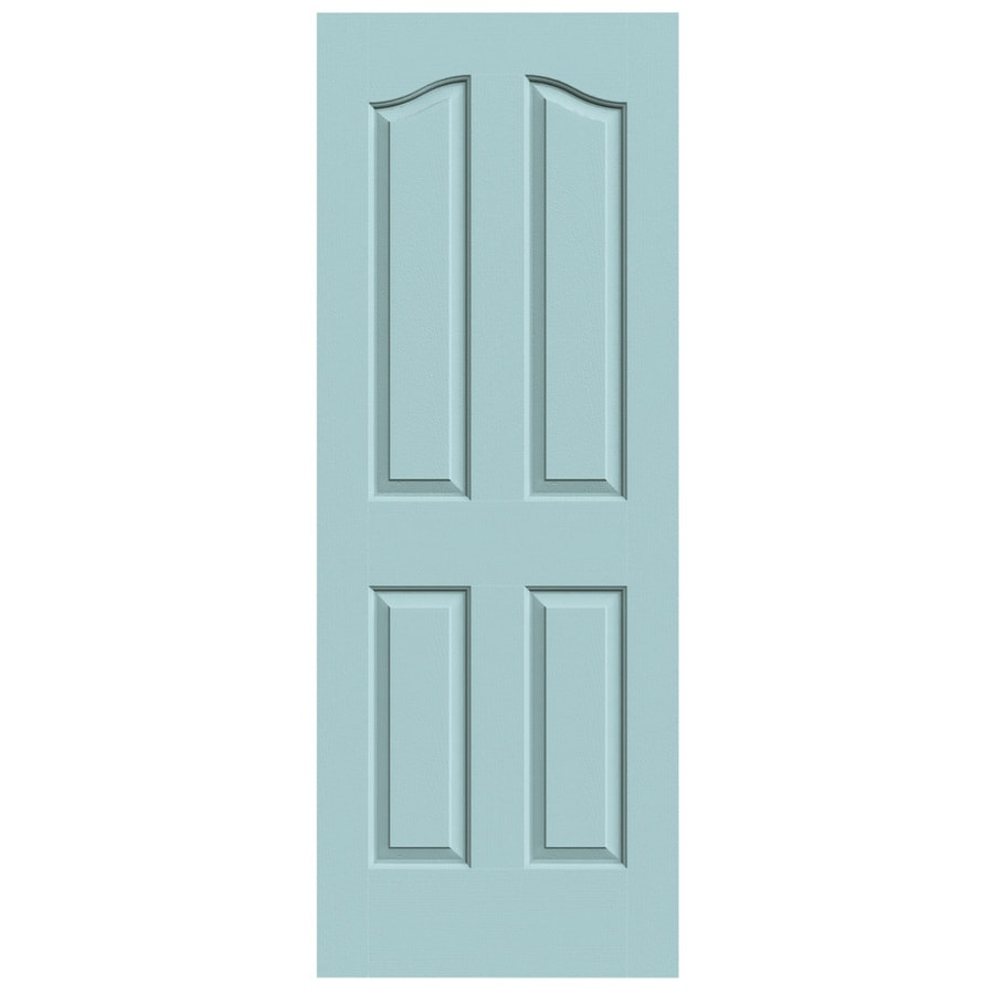 JELD-WEN Sea Mist Solid Core 4-Panel Arch Top Slab Interior Door (Common: 30-in x 80-in; Actual: 30-in x 80-in)