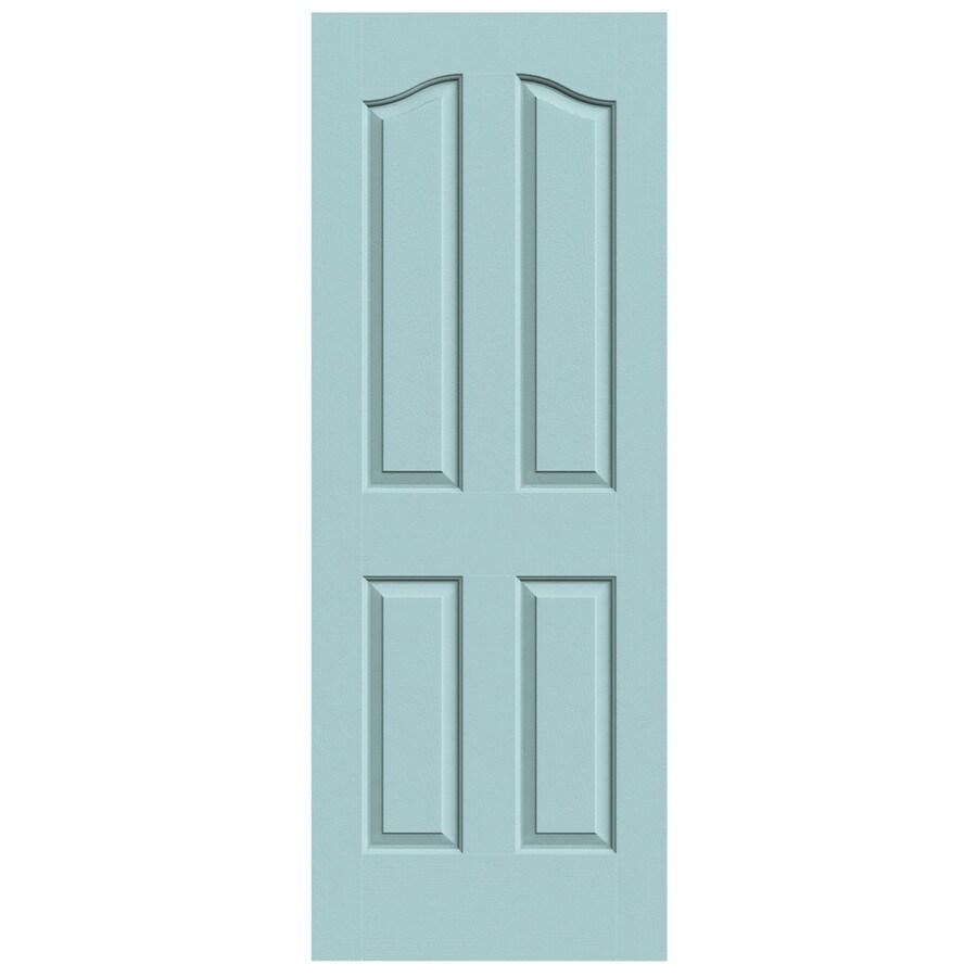 JELD-WEN Sea Mist Solid Core 4-Panel Arch Top Slab Interior Door (Common: 32-in x 80-in; Actual: 32-in x 80-in)