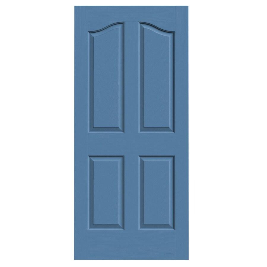 JELD-WEN Coventry Blue Heron 4-panel Arch Top Slab Interior Door (Common: 36-in x 80-in; Actual: 36-in x 80-in)
