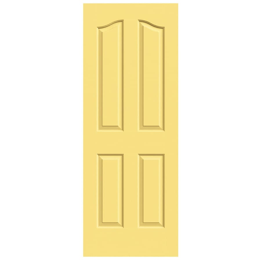 JELD-WEN Marigold Solid Core 4-Panel Arch Top Slab Interior Door (Common: 30-in x 80-in; Actual: 30-in x 80-in)