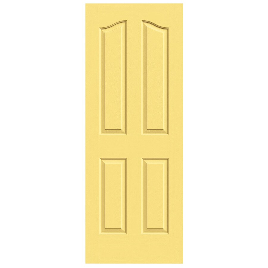 JELD-WEN Marigold Solid Core 4-Panel Arch Top Slab Interior Door (Common: 32-in x 80-in; Actual: 32-in x 80-in)