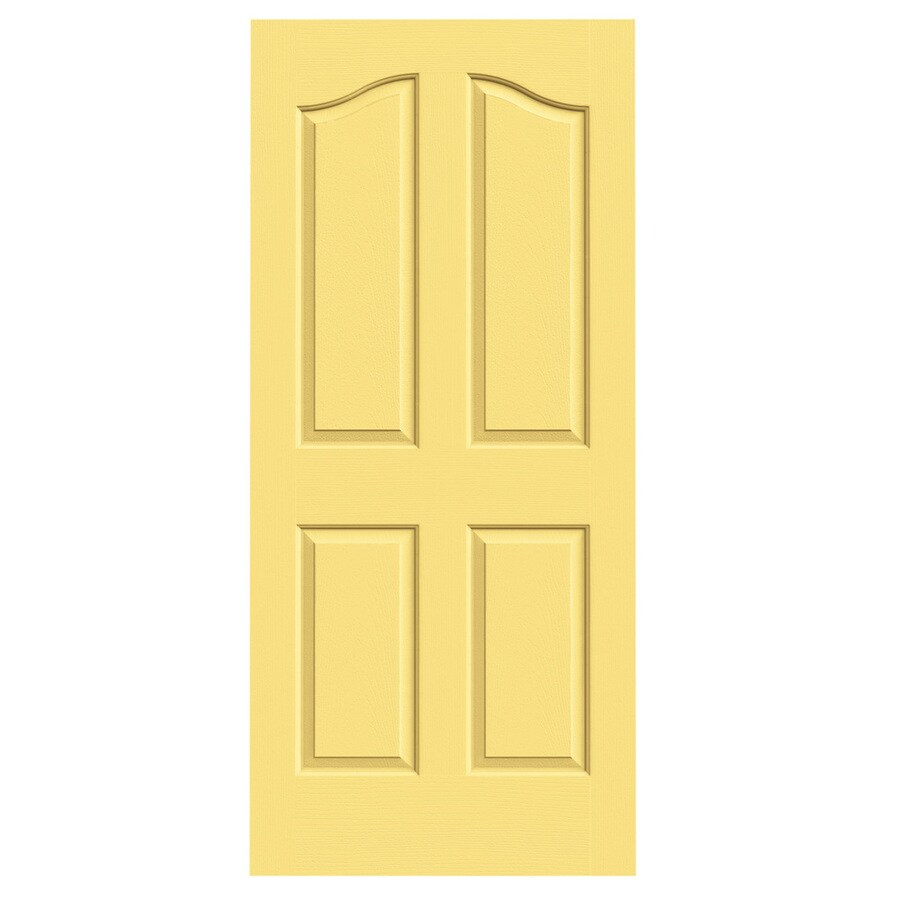 JELD-WEN Marigold Solid Core 4-Panel Arch Top Slab Interior Door (Common: 36-in x 80-in; Actual: 36-in x 80-in)