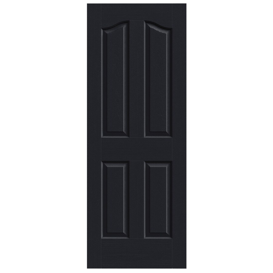 JELD-WEN Coventry Midnight Solid Core 4-Panel Arch Top Slab Interior Door (Common: 28-in x 80-in; Actual: 28-in x 80-in)