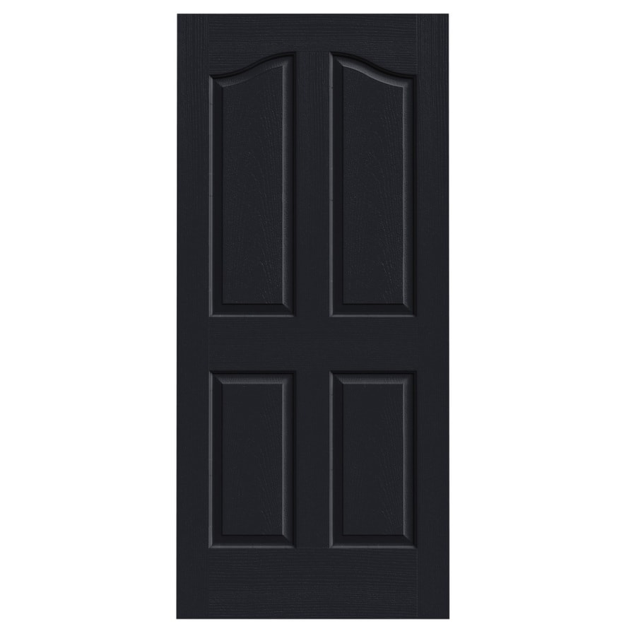 JELD-WEN Provincial Midnight Slab Interior Door (Common: 36-in x 80-in; Actual: 36-in x 80-in)