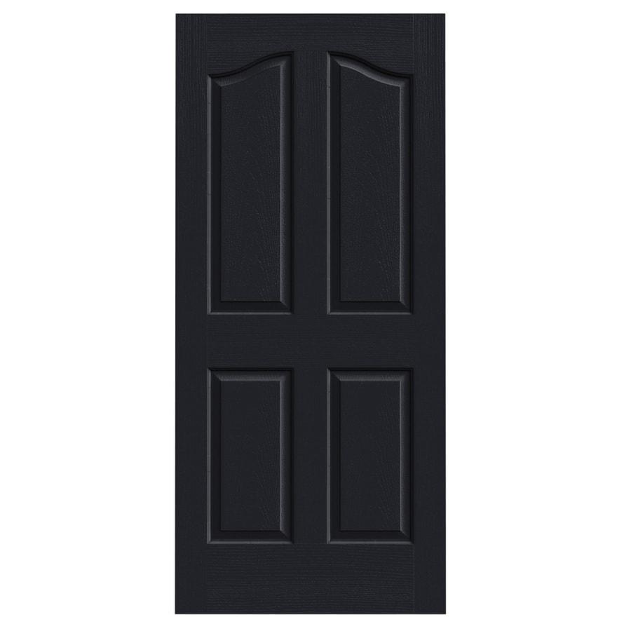 JELD-WEN Midnight Solid Core 4-Panel Arch Top Slab Interior Door (Common: 36-in x 80-in; Actual: 36-in x 80-in)