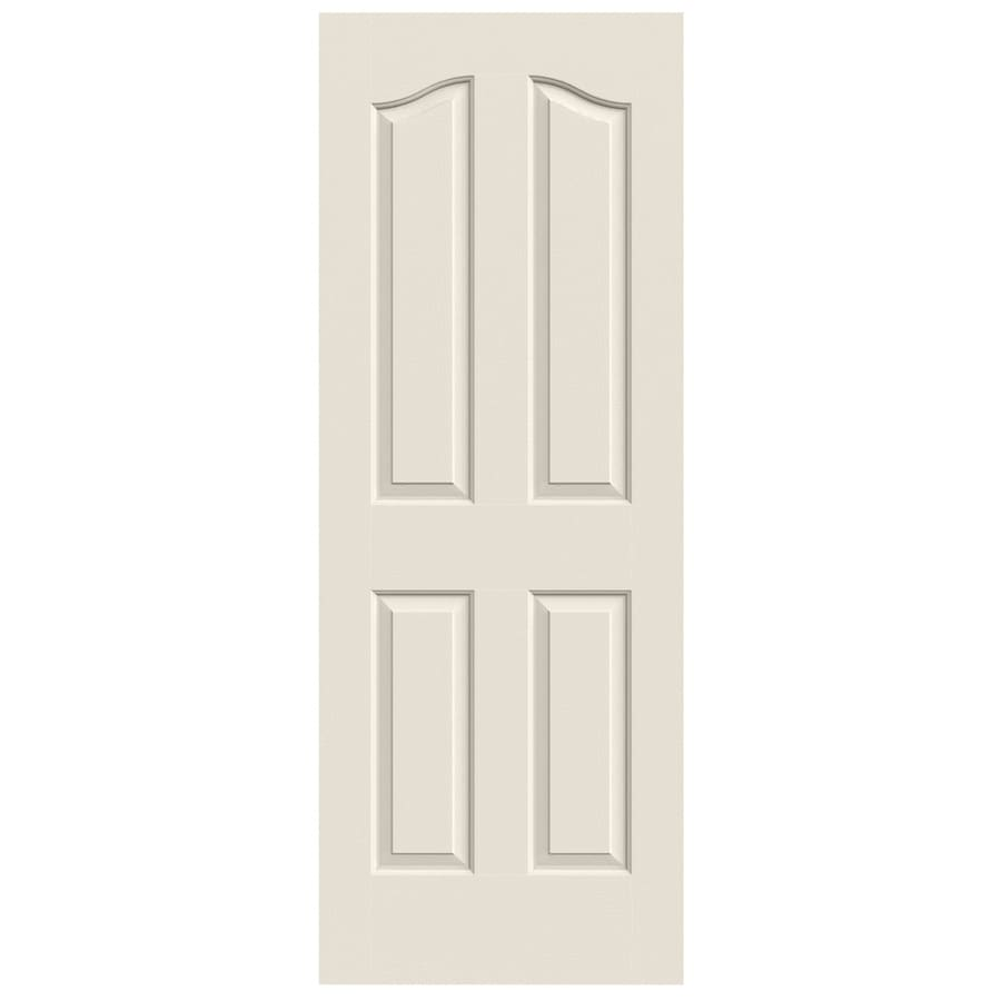 JELD-WEN Solid Core 4-Panel Arch Top Slab Interior Door (Common: 24-in x 80-in; Actual: 24-in x 80-in)
