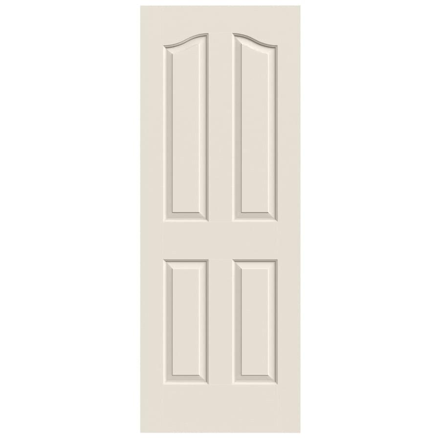 JELD-WEN Solid Core 4-Panel Arch Top Slab Interior Door (Common: 28-in x 80-in; Actual: 28-in x 80-in)