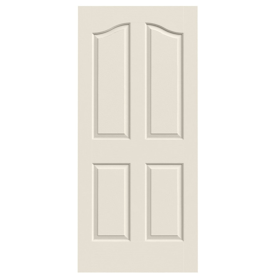 JELD-WEN Solid Core 4-Panel Arch Top Slab Interior Door (Common: 36-in x 80-in; Actual: 36-in x 80-in)