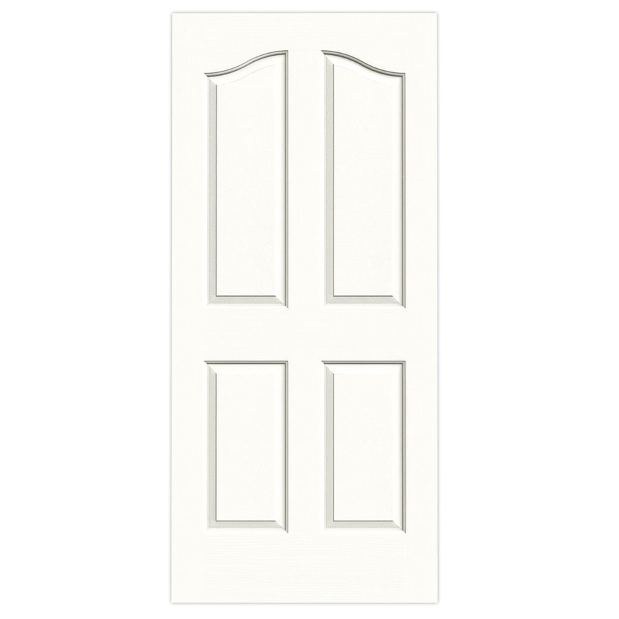 JELD-WEN Snow Storm Hollow Core 4-Panel Arch Top Slab Interior Door (Common: 36-in x 80-in; Actual: 36-in x 80-in)