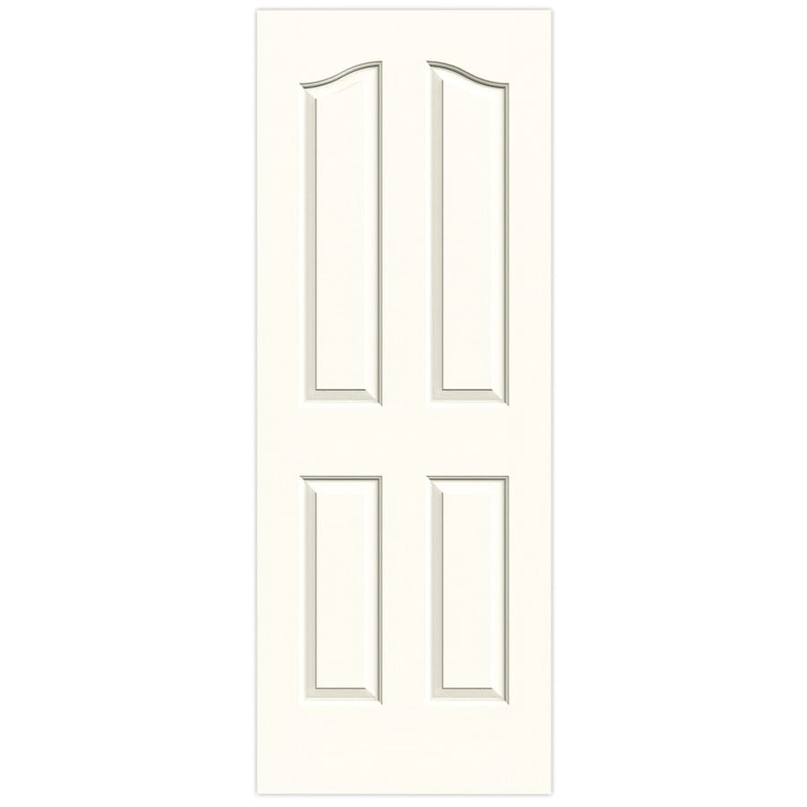 JELD-WEN Moonglow Hollow Core 4-Panel Arch Top Slab Interior Door (Common: 32-in x 80-in; Actual: 32-in x 80-in)
