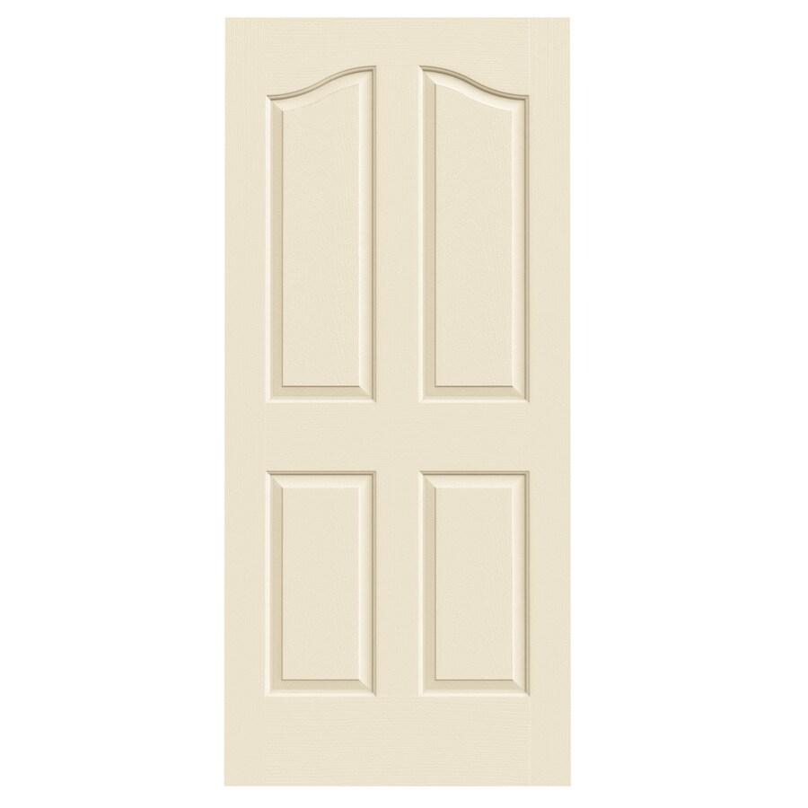 JELD-WEN Cream-N-Sugar Hollow Core 4-Panel Arch Top Slab Interior Door (Common: 36-in x 80-in; Actual: 36-in x 80-in)