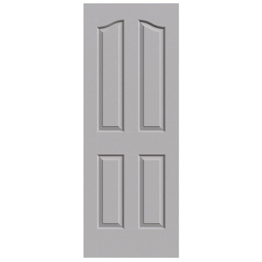 JELD-WEN Driftwood Hollow Core 4-Panel Arch Top Slab Interior Door (Common: 30-in x 80-in; Actual: 30-in x 80-in)