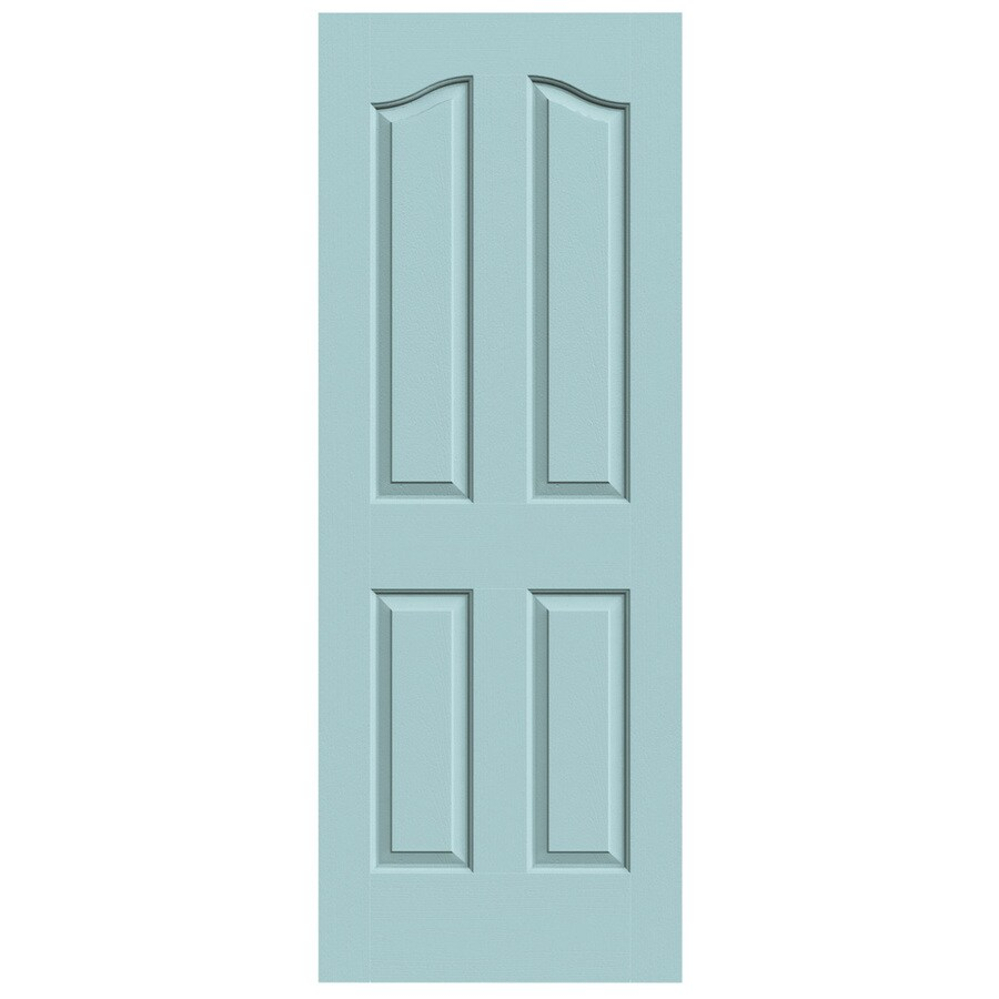 JELD-WEN Sea Mist Hollow Core 4-Panel Arch Top Slab Interior Door (Common: 24-in x 80-in; Actual: 24-in x 80-in)