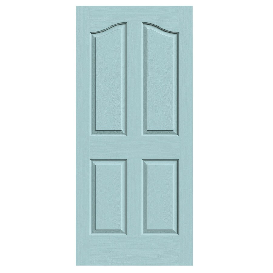 JELD-WEN Sea Mist Hollow Core 4-Panel Arch Top Slab Interior Door (Common: 36-in x 80-in; Actual: 36-in x 80-in)