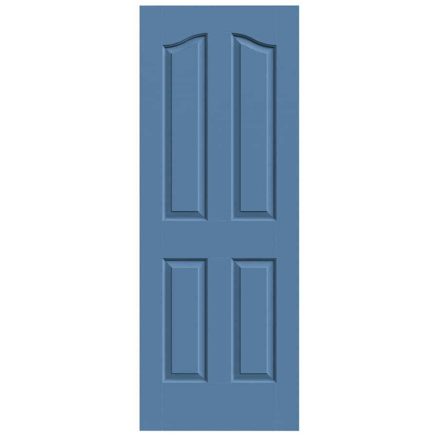 JELD-WEN Blue Heron Hollow Core 4-Panel Arch Top Slab Interior Door (Common: 24-in x 80-in; Actual: 24-in x 80-in)