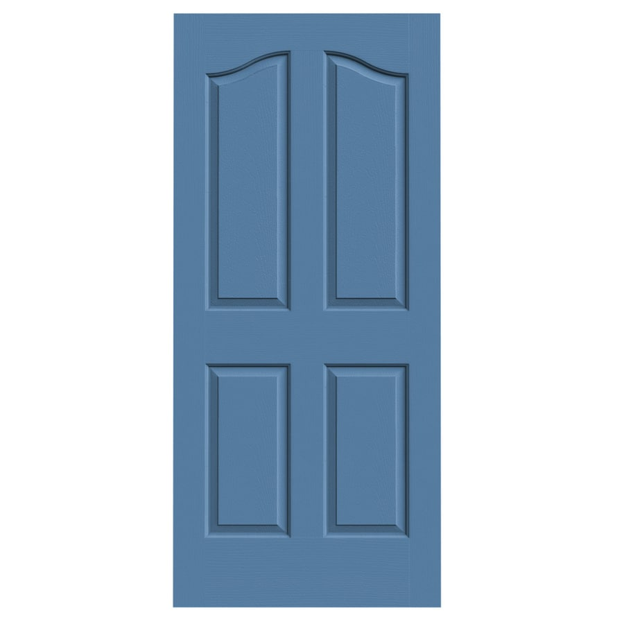 JELD-WEN Blue Heron Hollow Core 4-Panel Arch Top Slab Interior Door (Common: 36-in x 80-in; Actual: 36-in x 80-in)