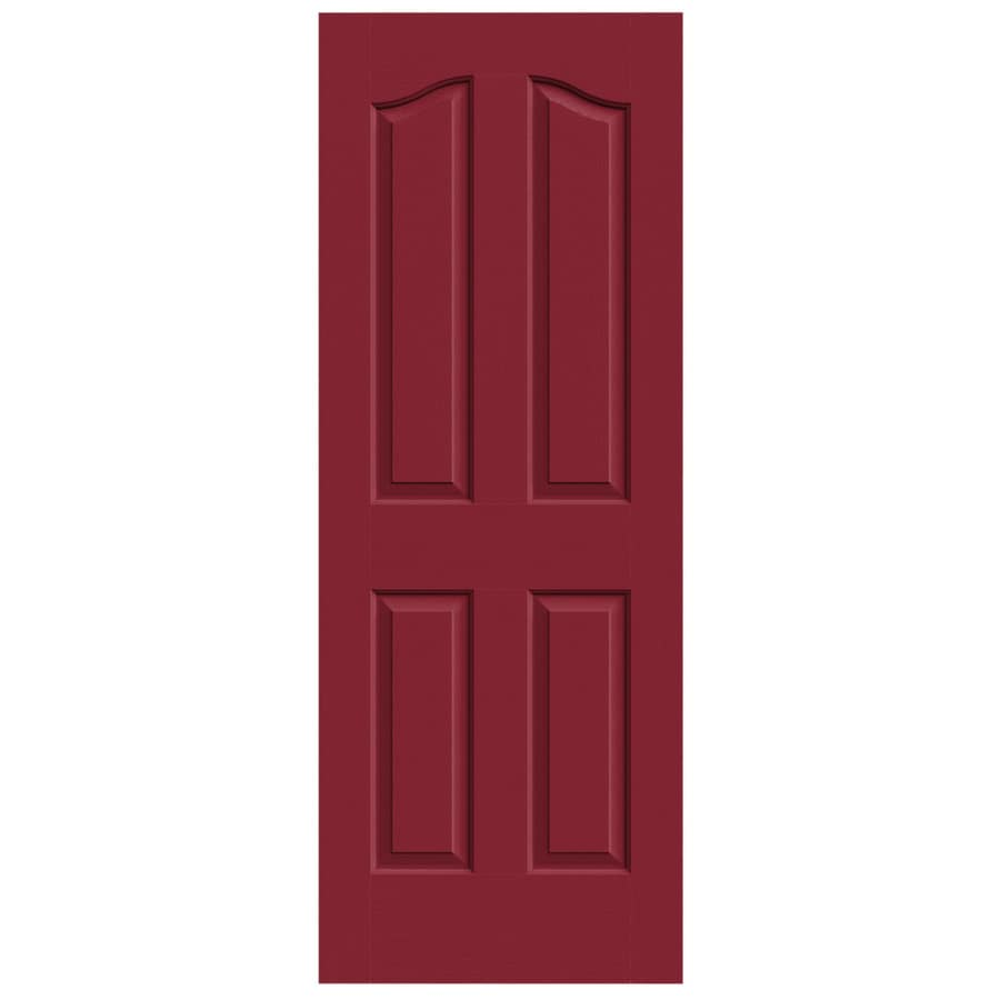 JELD-WEN Barn Red Hollow Core 4-Panel Arch Top Slab Interior Door (Common: 30-in x 80-in; Actual: 30-in x 80-in)