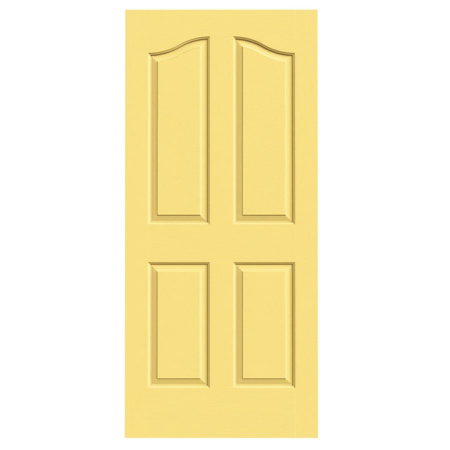 JELD-WEN Marigold Hollow Core 4-Panel Arch Top Slab Interior Door (Common: 36-in x 80-in; Actual: 36-in x 80-in)