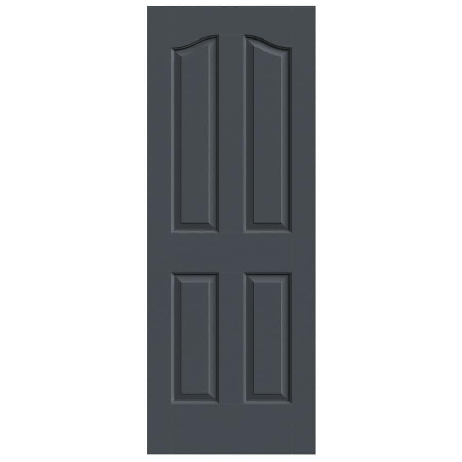 JELD-WEN Slate Hollow Core 4-Panel Arch Top Slab Interior Door (Common: 30-in x 80-in; Actual: 30-in x 80-in)