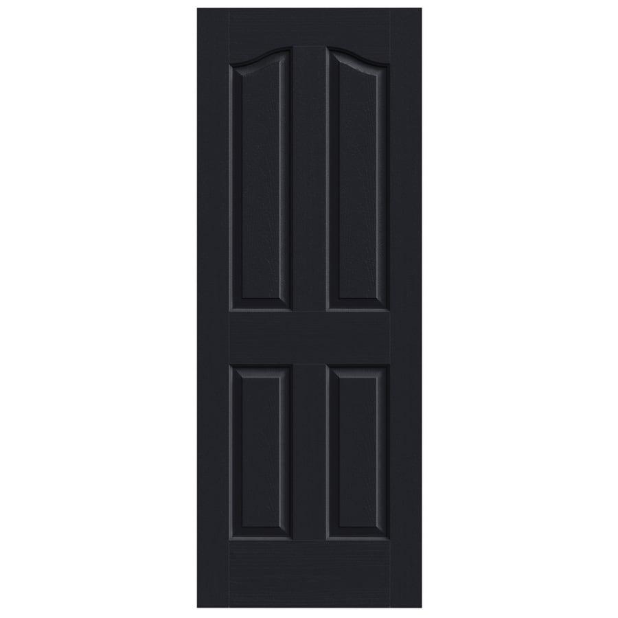 JELD-WEN Midnight Hollow Core 4-Panel Arch Top Slab Interior Door (Common: 24-in x 80-in; Actual: 24-in x 80-in)