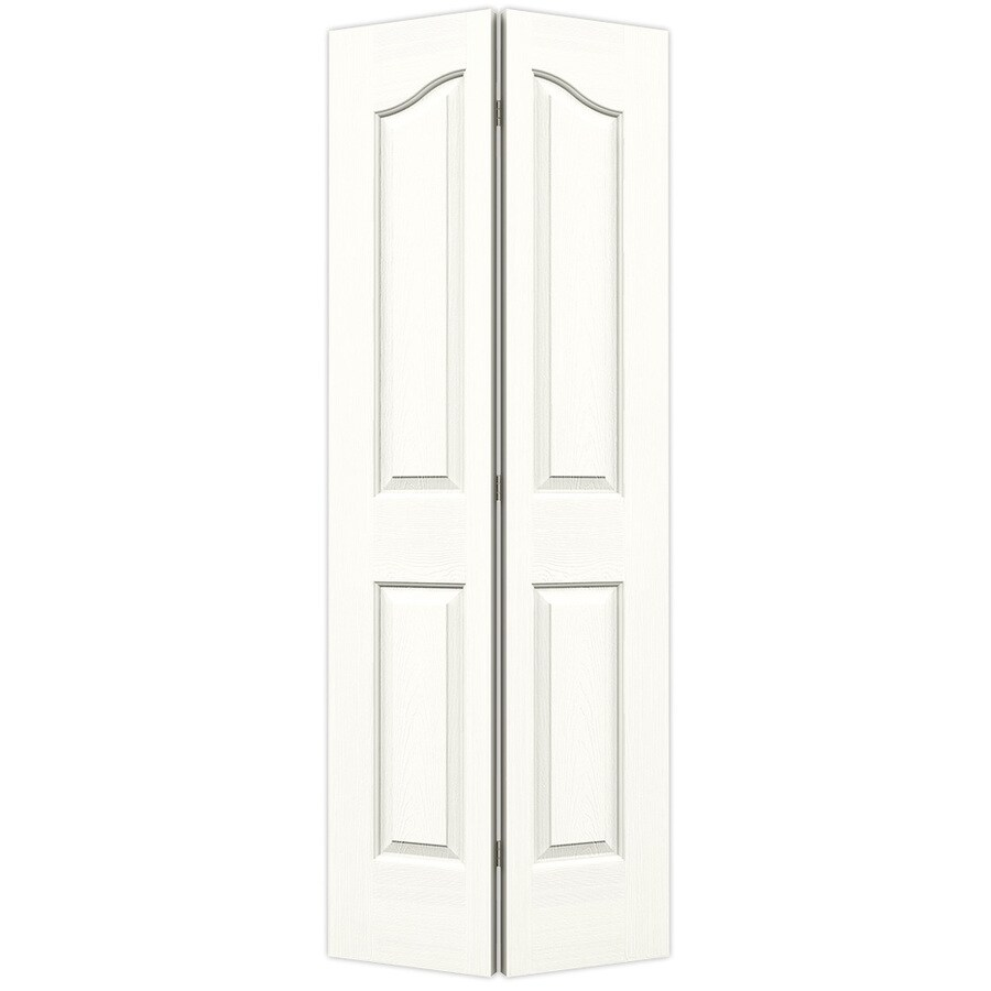 JELD-WEN Snow Storm Hollow Core 4-Panel Arch Top Bi-Fold Closet Interior Door (Common: 24-in x 80-in; Actual: 23.5-in x 79-in)