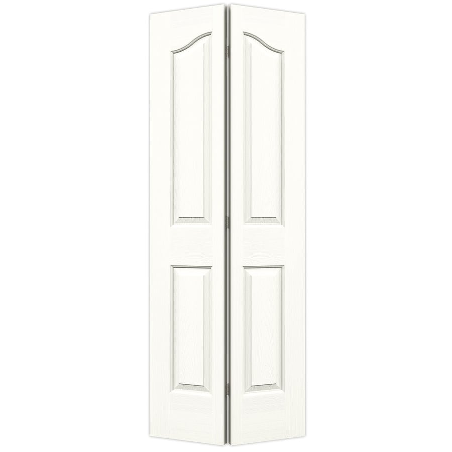 JELD-WEN Snow Storm Hollow Core 4-Panel Arch Top Bi-Fold Closet Interior Door (Common: 28-in x 80-in; Actual: 27.5-in x 79-in)