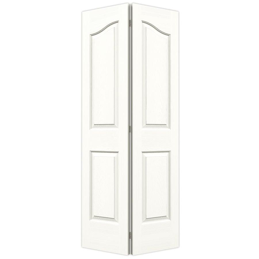 JELD-WEN Snow Storm Hollow Core 4-Panel Arch Top Bi-Fold Closet Interior Door (Common: 36-in x 80-in; Actual: 35.5-in x 79-in)