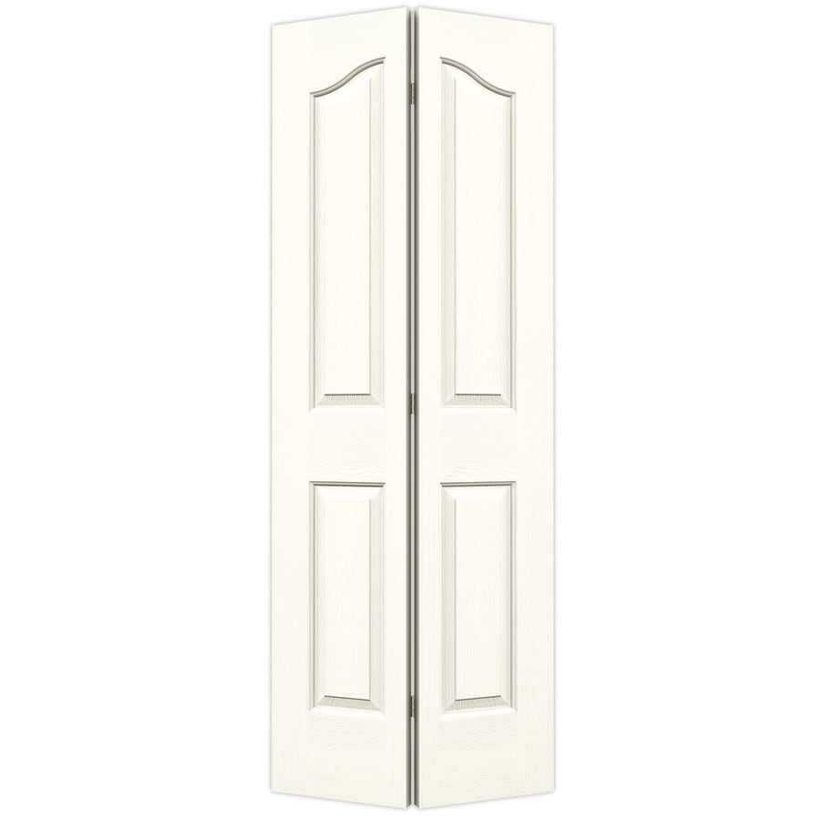 JELD-WEN Provincial Moonglow Hollow Core Molded Composite Bi-Fold Closet Interior Door with Hardware (Common: 32-in x 80-in; Actual: 31.5-in x 79-in)