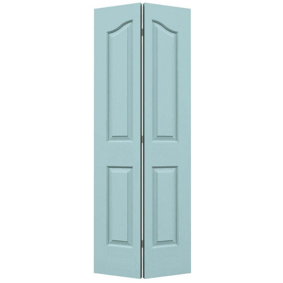 JELD-WEN Sea Mist Hollow Core 4-Panel Arch Top Bi-Fold Closet Interior Door (Common: 28-in x 80-in; Actual: 27.5-in x 79-in)