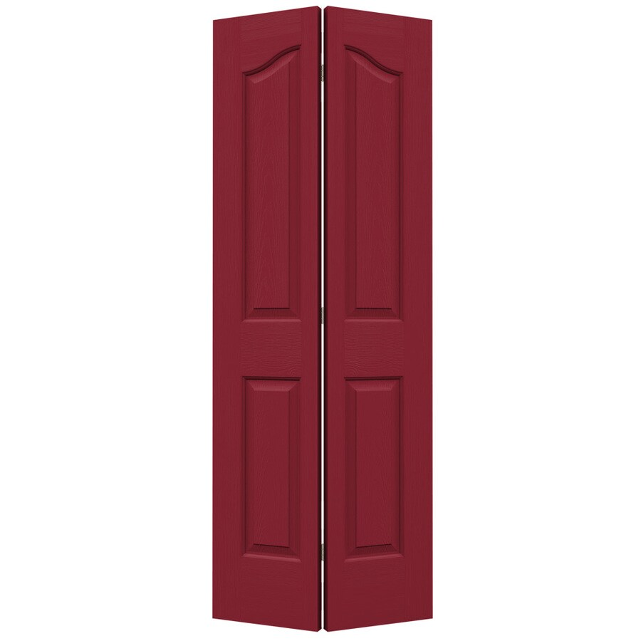 JELD-WEN Provincial Barn Red Bi-Fold Closet Interior Door (Common: 32-in x 80-in; Actual: 31.5000-in x 79-in)