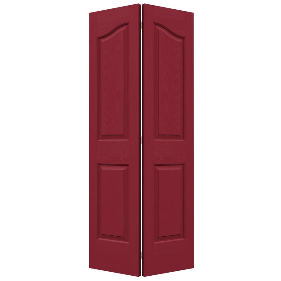 JELD-WEN Provincial Barn Red Bi-Fold Closet Interior Door (Common: 36-in x 80-in; Actual: 35.5-in x 79-in)