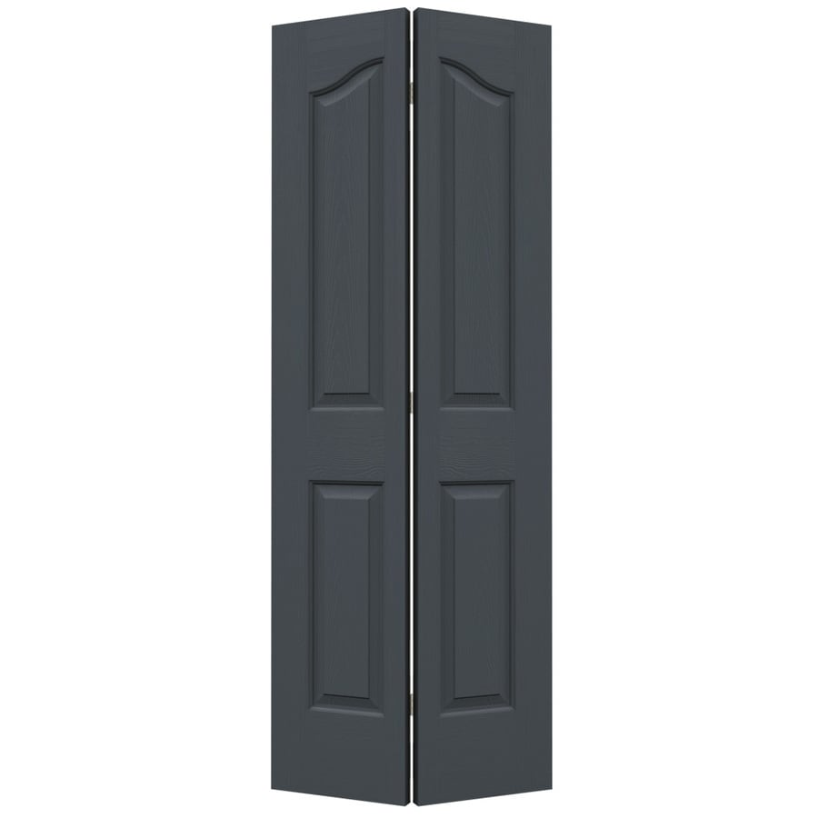 JELD-WEN Coventry Slate Hollow Core Molded Composite Bi-Fold Closet Interior Door with Hardware (Common: 24-in x 80-in; Actual: 23.5-in x 79-in)