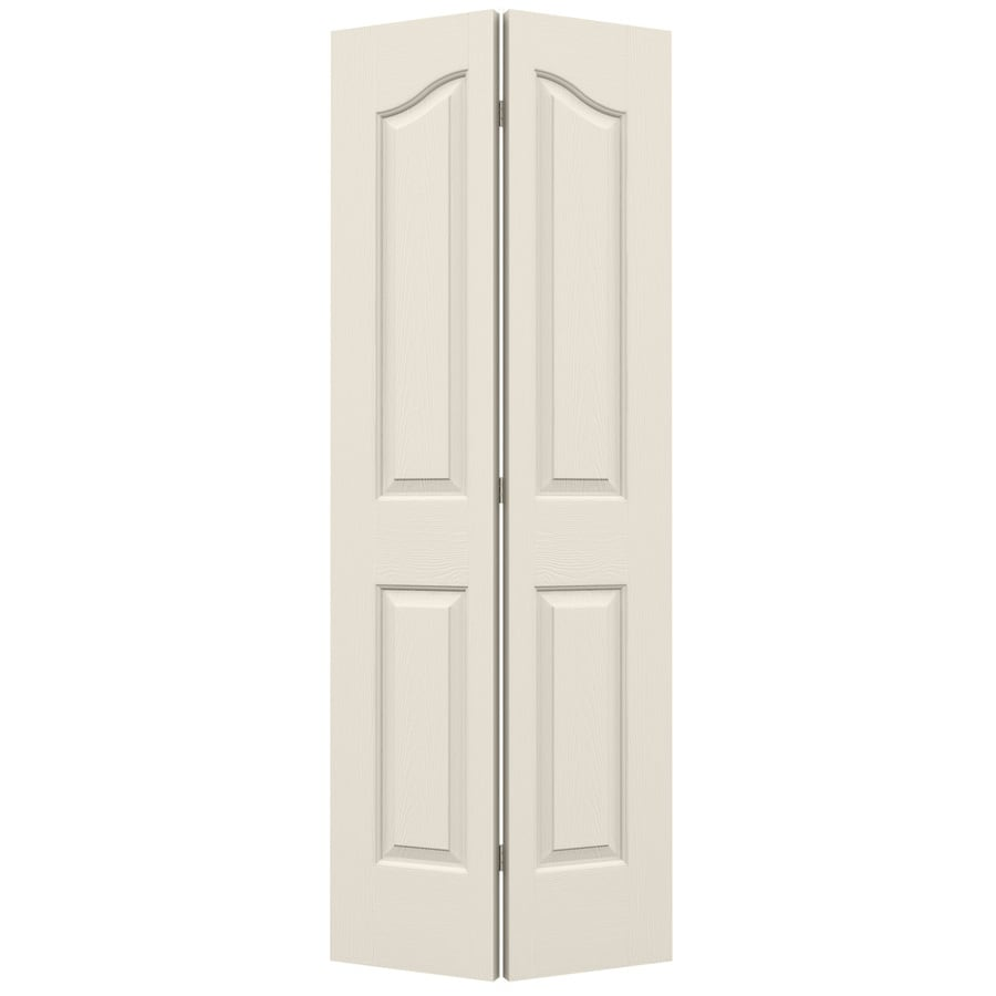 JELD-WEN Hollow Core 4-Panel Arch Top Bi-Fold Closet Interior Door (Common: 28-in x 80-in; Actual: 27.5-in x 79-in)
