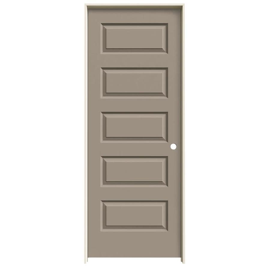 JELD-WEN Rockport Sand Piper 5-panel Equal Single Prehung Interior Door (Common: 30-in x 80-in; Actual: 31.562-in x 81.688-in)