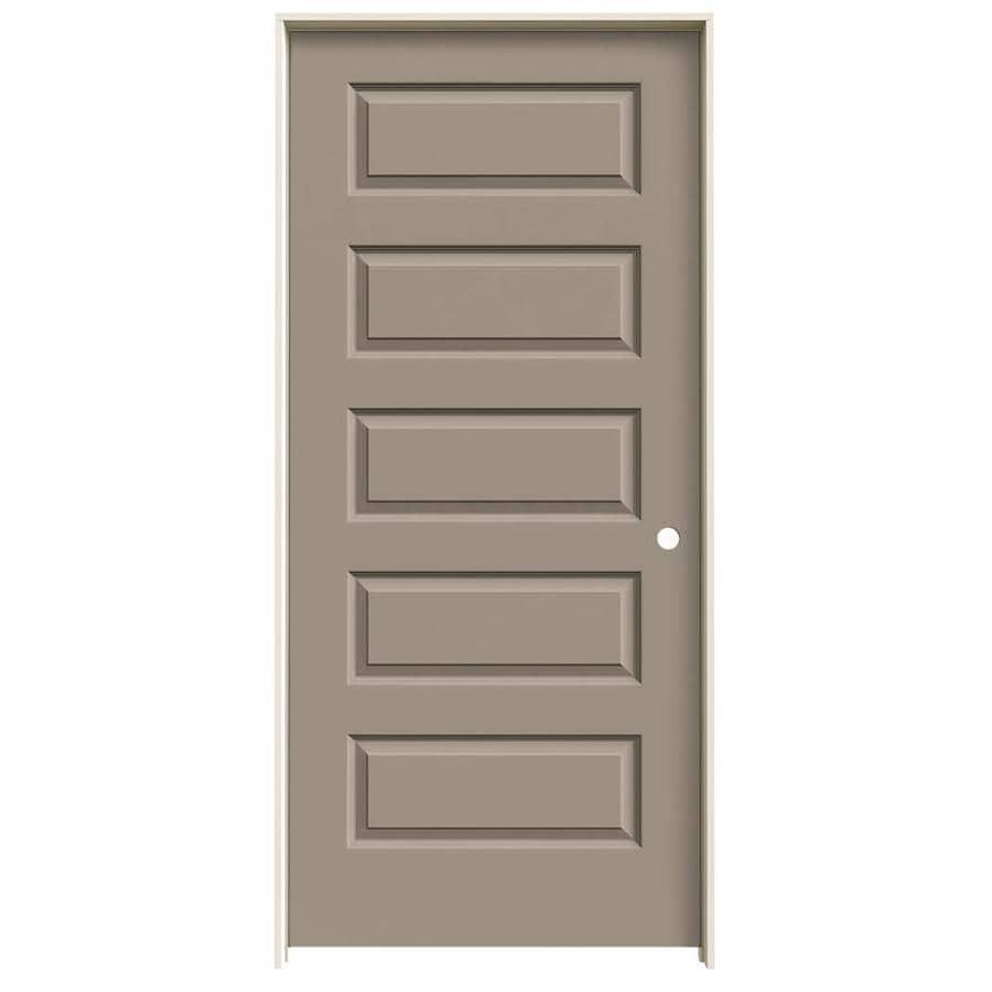 JELD-WEN Rockport Sand Piper 5-panel Equal Single Prehung Interior Door (Common: 36-in x 80-in; Actual: 37.562-in x 81.688-in)